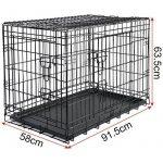 WOLTU HT2030m2 cage de transport pliable pour chiens ,Caisse de transport pour Chien,cage pour animaux,chats cage,métal,taille L,91,5x58x63,5cm de la marque Woltu image 3 produit