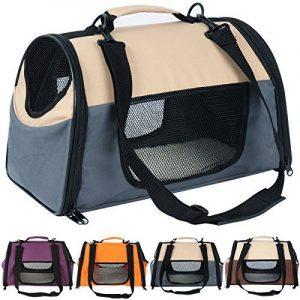 WOLTU HT2071gr Sac de transport en Oxford Cage pour chien,Caisse de transport pliable pour chien,environ 44*26*27,5 cm,Gris de la marque Woltu image 0 produit