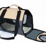 WOLTU HT2071gr Sac de transport en Oxford Cage pour chien,Caisse de transport pliable pour chien,environ 44*26*27,5 cm,Gris de la marque Woltu image 2 produit